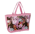 Promotion cheap design pink shoulder shopping bags